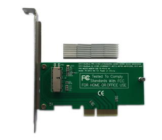PCIe SSD to PCI Express x4 アダプタ, Mac Pro 2008-2012用