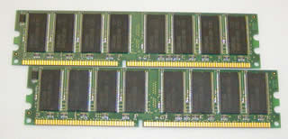 2GB キット (1GBx2) DDR 400 PC3200 184pin