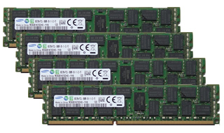 64GBキット 16GBx4 DDR3 PC3-14900 1866MHz ECC Registered Samsung純正
