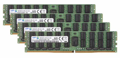 64GBキット 16GBx4 DDR4 PC4-21300 2666MHz ECC Registered