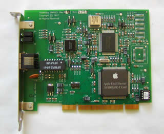 Apple PCI 10/100Base-T Fast Ethernet Card OS X対応